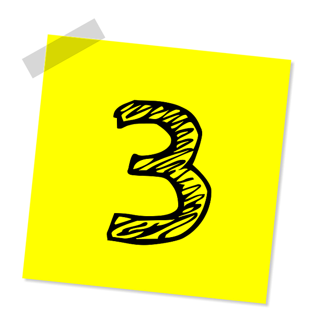 number_3_three_yellow_post-it_sticker_640