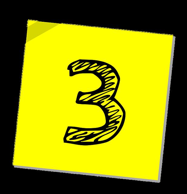 number_3_three_yellow_post-it_sticker_640
